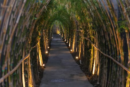 On you arrive at Alam Boutique Resort, you will passing our main entrance through a bamboo path away