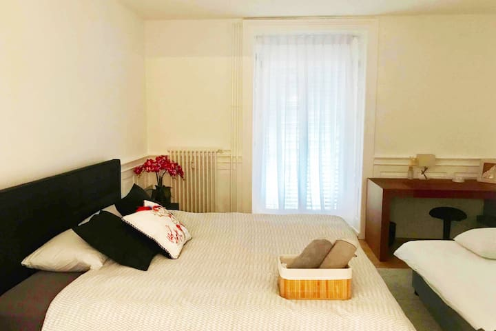 Master bedroom with sofa bed