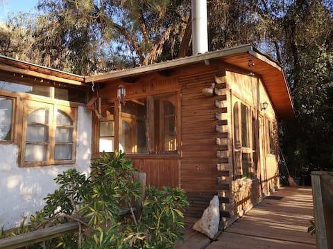 Cabaña rural, linda vista y tranquilidad