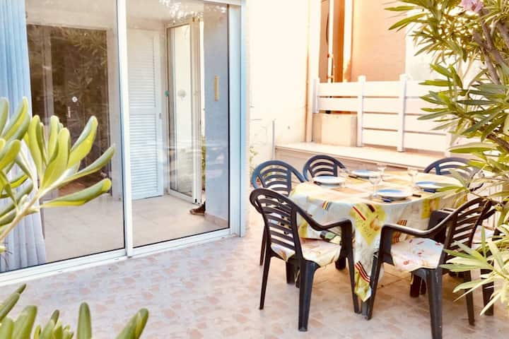 NARBONNE-PLAGE : Pavillon avec terrasse privative
