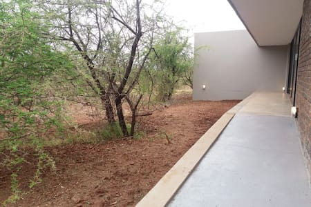 Ramp to the entrance of Lindi Lodge.