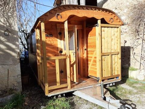 Houten woonwagen: Bohemen
