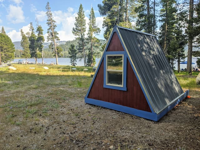 Lakefront Teeny Tiny A Frame Cabin - Glamping