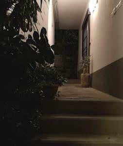 Caminho iluminado para entrada