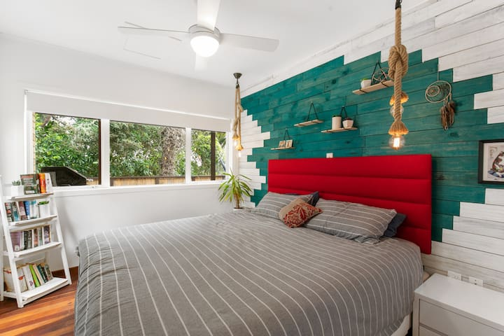 Master bedroom with a super king bed