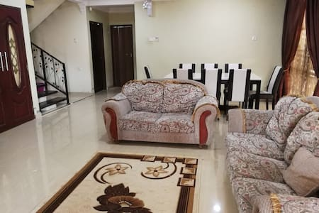 living room and family hall..where the space for bonding together