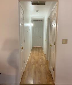 First hallway towards master bedroom.
