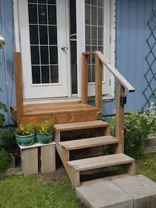 Just added a small deck for easier access to you private space.