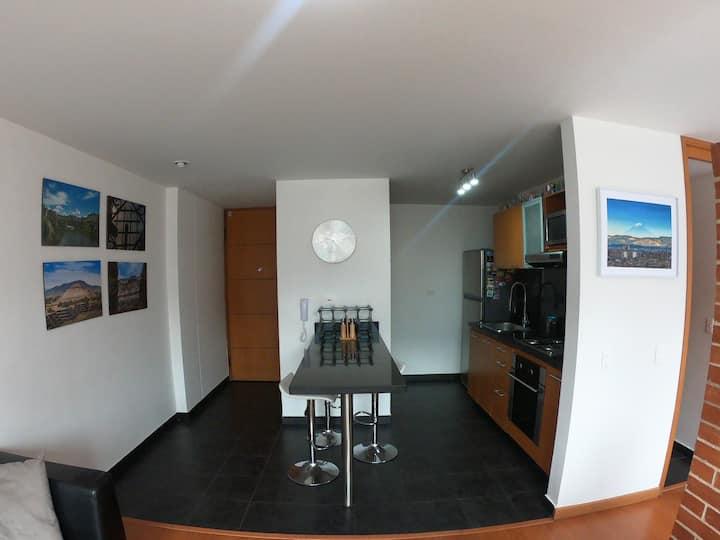 Apartamento con espectacular vista de Bogotá