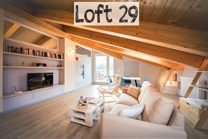 Loft 29, mansarda luminosa di 85 mq. con terrazzo