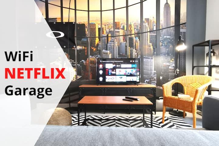 Loft hyper centre avec garage, WiFi, Netflix...