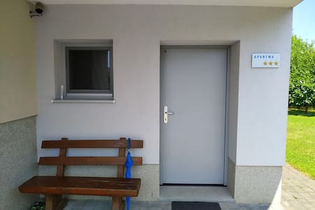 Entrance of the apartment without steps.