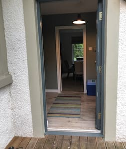 This is the entrance to the utility room which leads to the kitchen, sitting /dining room, downstairs bedroom and bathroom there are no steps on the ground floor