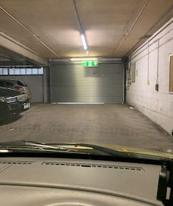 Underground car park is secure with easy access in and out