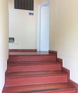 Second floor access through stairs.