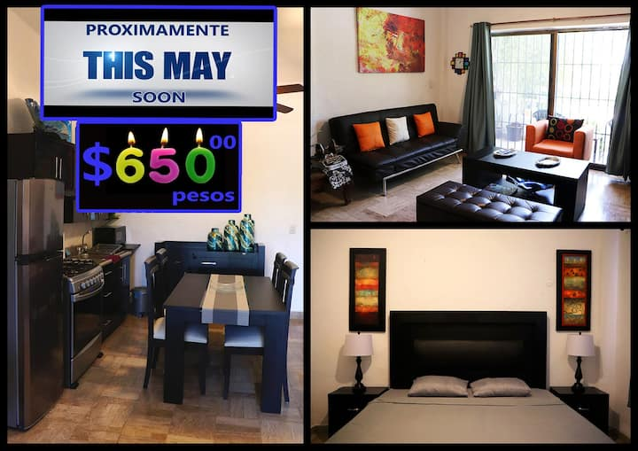 Complete apartment at Golf & Laguna, in Hotel Zone