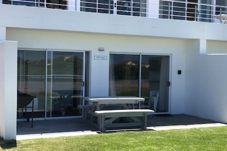 Sliding door to main bedroom and to living room