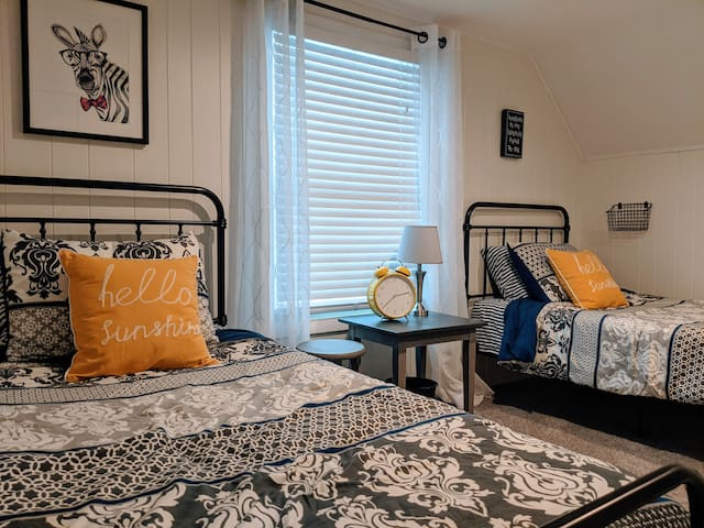 Let the kids make this second floor guest room their own. Includes (2) Twin Beds.
