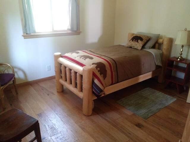 Main floor twin bed