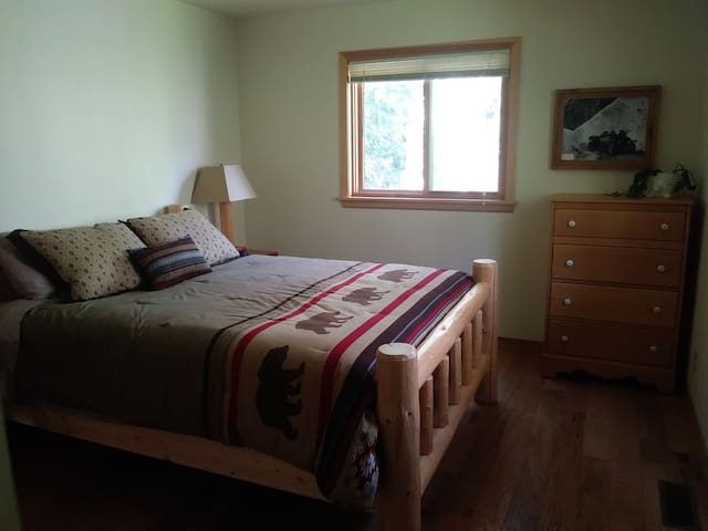 Main floor queen bed