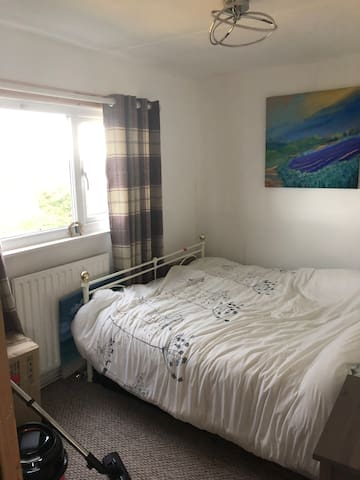 King size double bed  Bedroom 1  With views to ssa