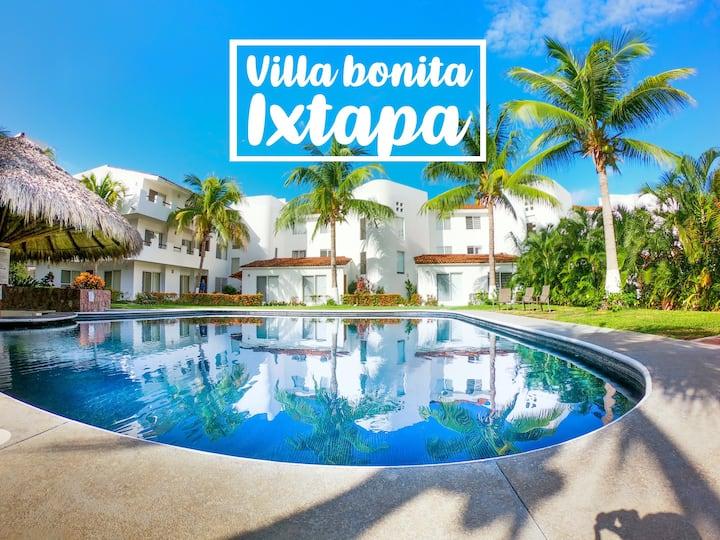 Villa Bonita Ixtapa *near beach& restaurants & bar