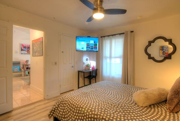 Bedroom One-  Queen bed