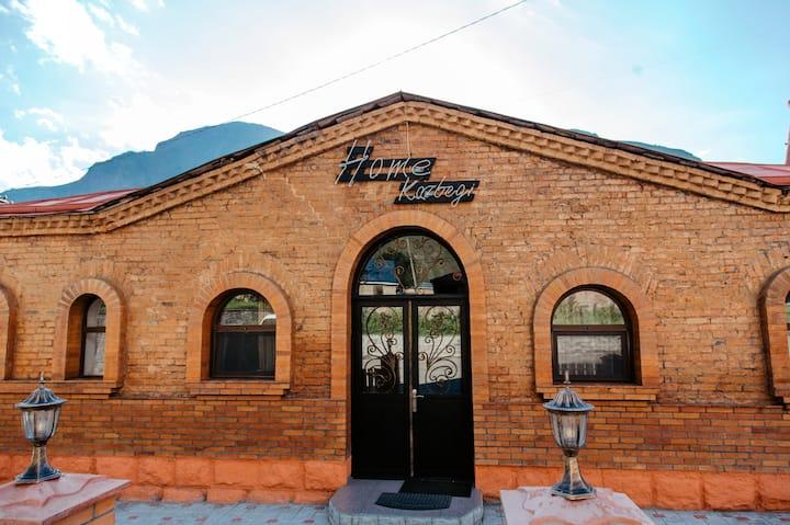 Home Kazbegi Red brick twin room