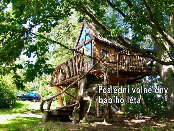 Tree House Surrounded by Nature + Free Sauna