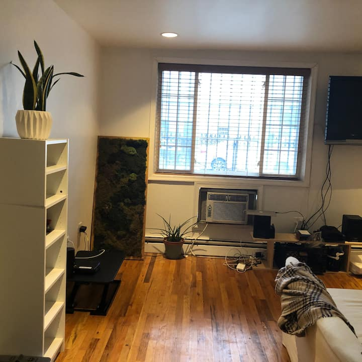 No-frills space in Bushwick (BR w/ private bath)