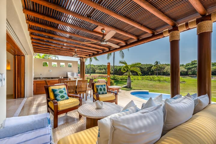 3 Bd Villa in Las Palmas,Punta Mita+Cook+Golf-Cart