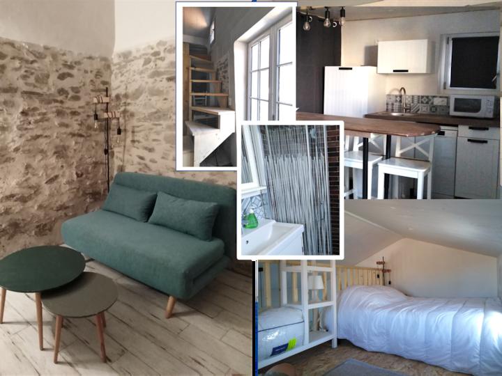 Charmant studio neuf au Vieil, Village et Plages