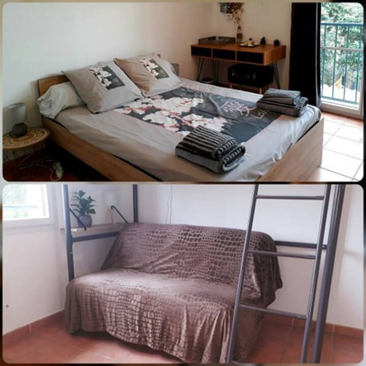 ☆ 2 chambres privées chez l'habitant ☆Villa Claira