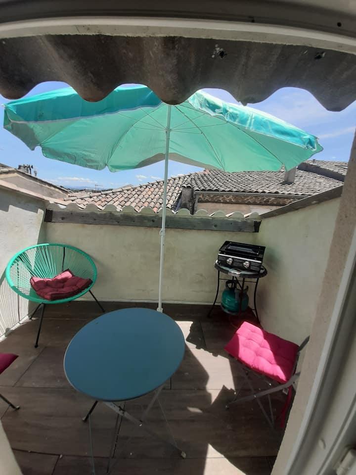 """Appartement 103  """" terrasse tropézienne """""""