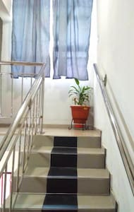 From the front of the building,a security gate and the gaurd is on ground to give access to the client and every sections of the property including the stairs are well lighted.