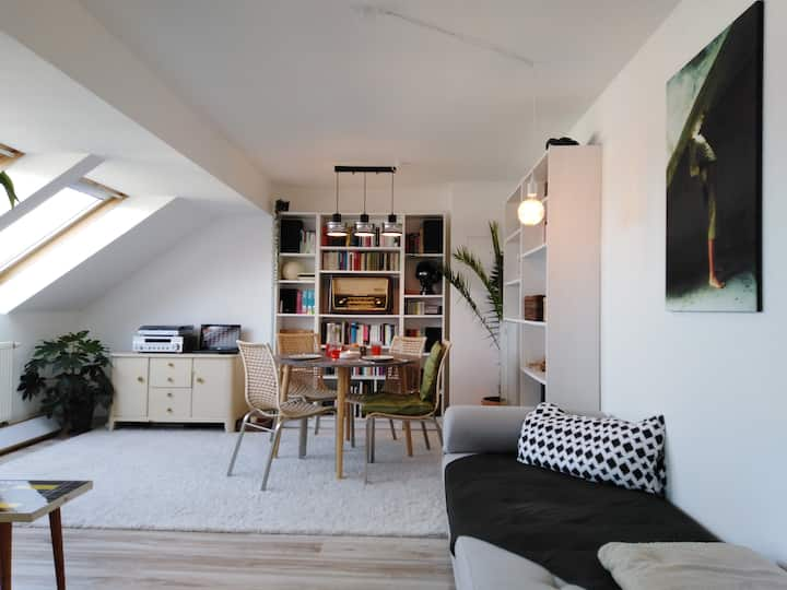 beautiful attic flat in the centre of Leipzig