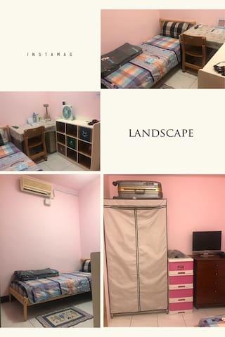 內湖舒適單人房-近港墘捷運站