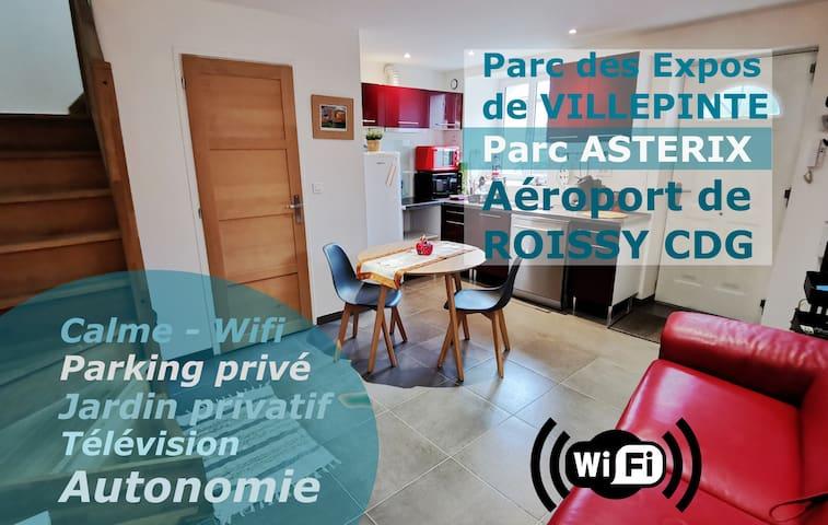 ★ Maison duplex proche parc ASTÉRIX - Roissy CDG