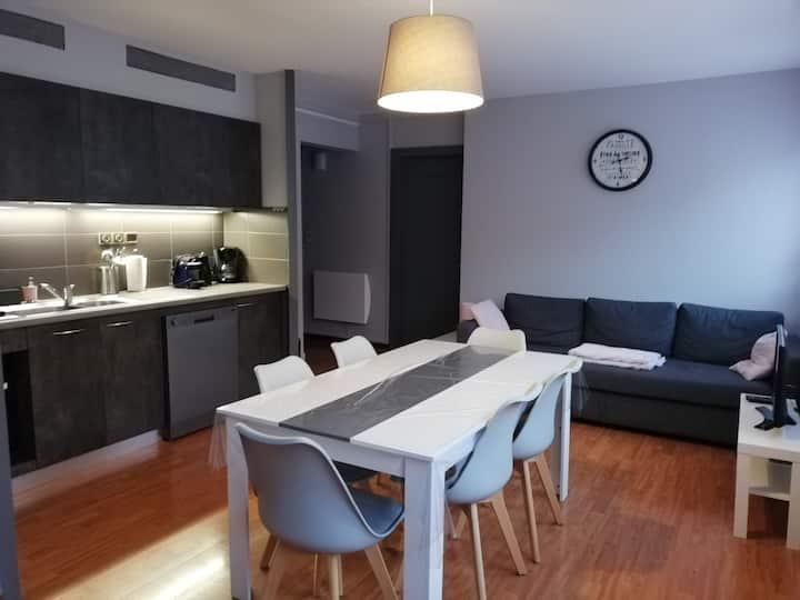 Appartement proche centre avec grand garage