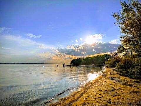 Soziale Distanz am Lake Mac! Fische,Familie!