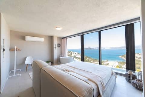 Helt nyt 3BR strandhus med en fantastisk udsigt over solnedgangen