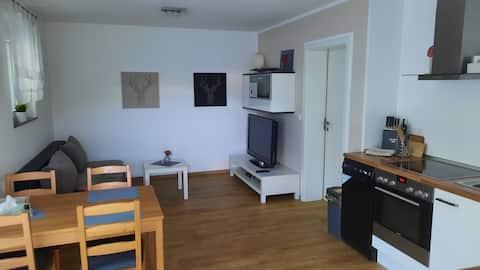 Malý moderný byt s terasou