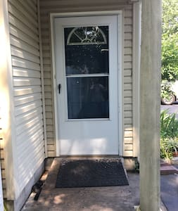 Installed ramp with no steps into doorway . Very accessible