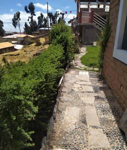 entrada a la casa,tikawasihomestay
