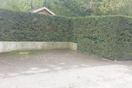 2 private parking spaces with easy access
