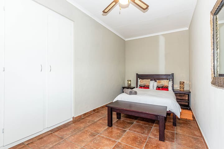 Spare bedroom double bed