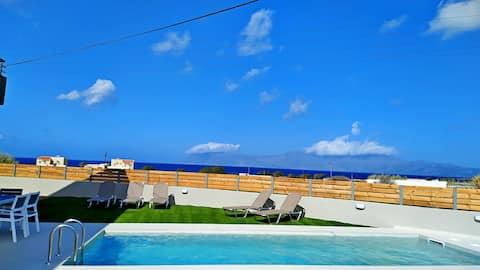 Balos Residence privat basseng Seafront 3BD 2BTH