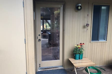 """Entry door with 2"""" threshold."""
