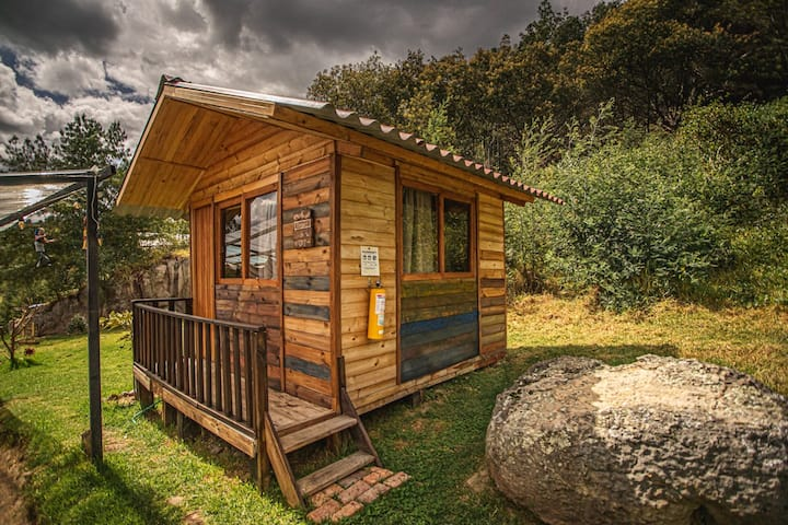 Double bedroom in the woods. Bosque Escondido