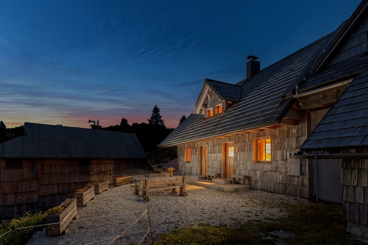 Mountain Chalet Godec on Vogel above Bohinj lake
